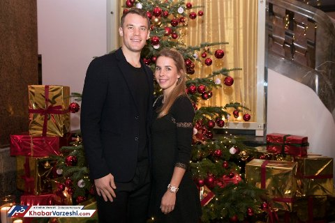 نویر و همسرش در جشن باشگاه بایرن مونیخ