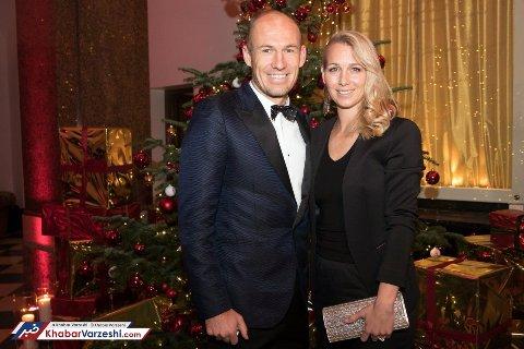 روبن و همسرش در جشن باشگاه بایرن مونیخ