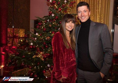 لواندوفسکی و همسرش در جشن باشگاه بایرن مونیخ