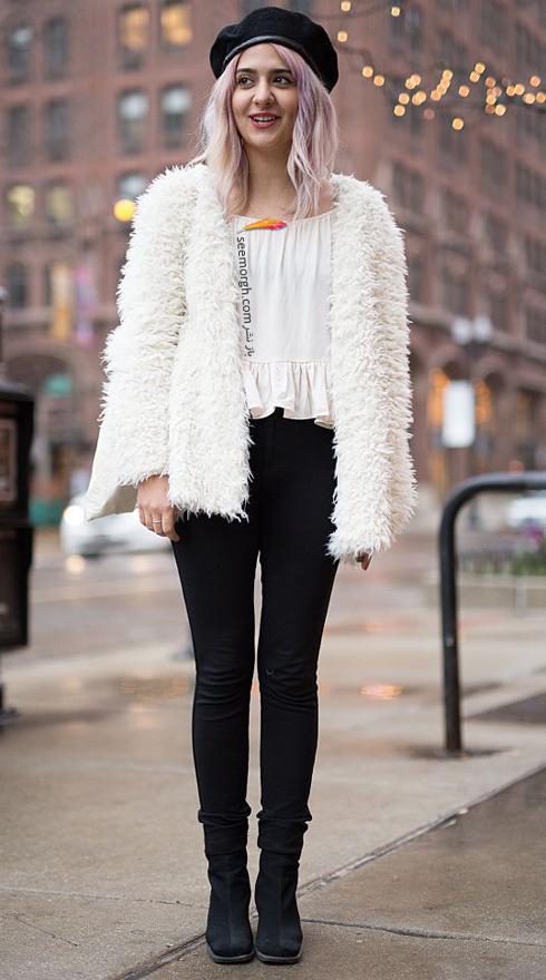 کت,کت زنانه,کت زمستانی,کت زنانه زمستانی,کت های زنانه که هرگز قدیمی نمی شوند,کت های زنانه که هرگز دمده نمی شوند,کت خز سفید یک دست