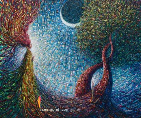 نقاشی انتزاعی,نقاشی رنگ و روغن,Eduardo Rodriguez Calzado