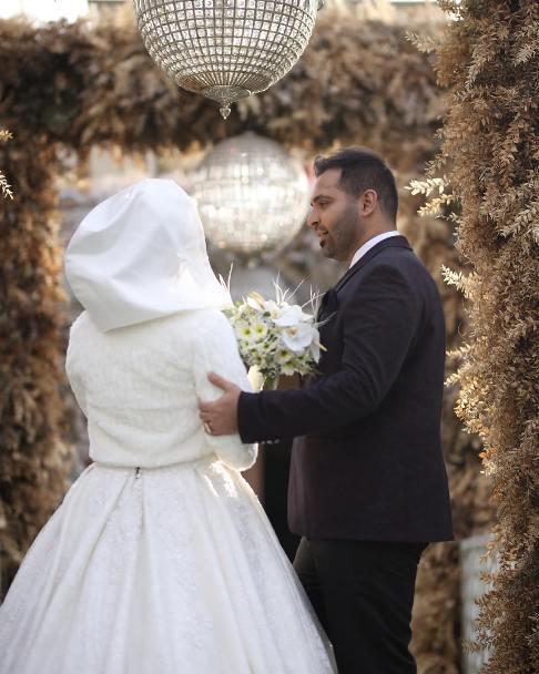 عکس ازدواج فریبا باقری و همسرش