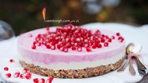 طرز تهیه کیک شب یلدا، کیک انار یخچالی,کیک شب یلدا,کیک انار برای شب یلدا