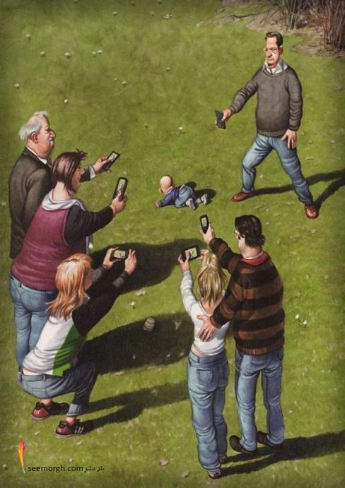 کاریکاتور,کاریکاتور مفهومی,زندگی مدرن, Gerhard Haderer