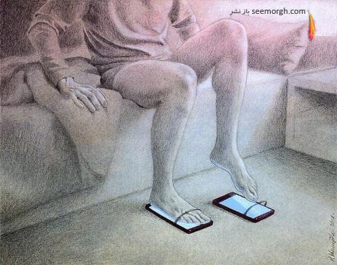کاریکاتور,نقاشی,کاریکاتور انتقادی,رسانه ها,شبکه مجازی,Pawel Kuczynski