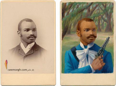 عکس قدیمی,عکس ویکتوریایی,ابرقهرمان,هالیوود,نقاشی,Alex Gross,جانگوو