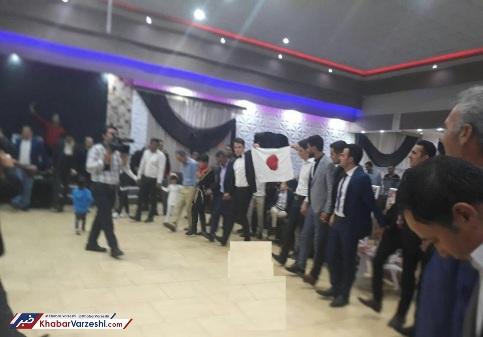 پرچم ژاپن در جشن عروسی
