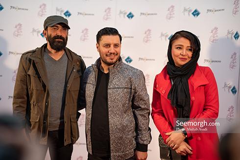 جشن منتقدان,برندگان جشن منتقدان,عکس های جشن منتقدان,مه لقا باقری,جواد عزتی,جواد عزتی و همسرش