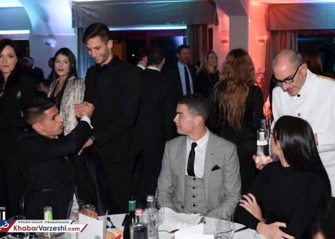 رونالدو و نامزدش در جشن باشگاه یوونتوس