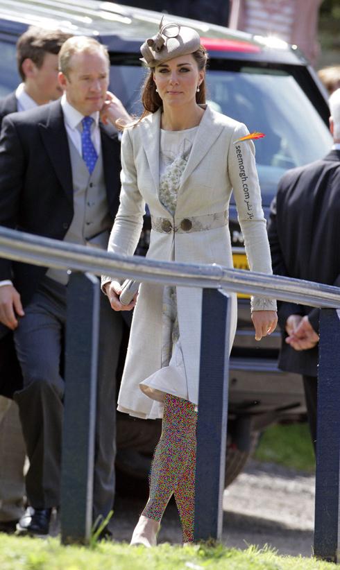 مدل لباس,مدل لباس کيت ميدلتون,مدل لباس کيت ميدلتون در مراسم عروسي Emily McCorquodale و James Hutt در سال 2012