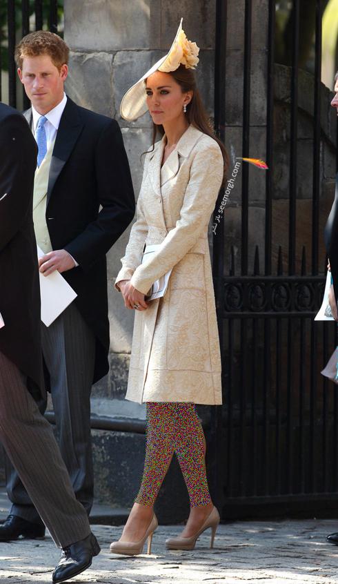 مدل لباس,مدل لباس کيت ميدلتون,مدل لباس کيت ميدلتون در مراسم عروسي Phillips و Mike Tindall در سال 2011