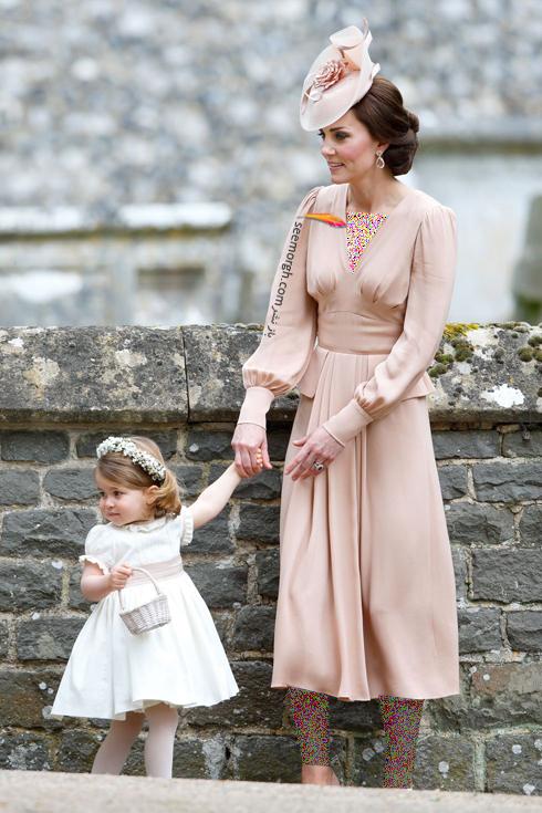 مدل لباس,مدل لباس کيت ميدلتون,مدل لباس کيت ميدلتون در مراسم عروسي Pippa Middleton در سال 2017
