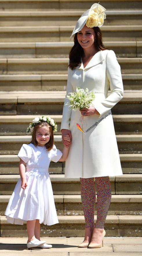 مدل لباس,مدل لباس کيت ميدلتون,مدل لباس کيت ميدلتون در مراسم عروسي Meghan Markle و Prince Harry در سال 2018