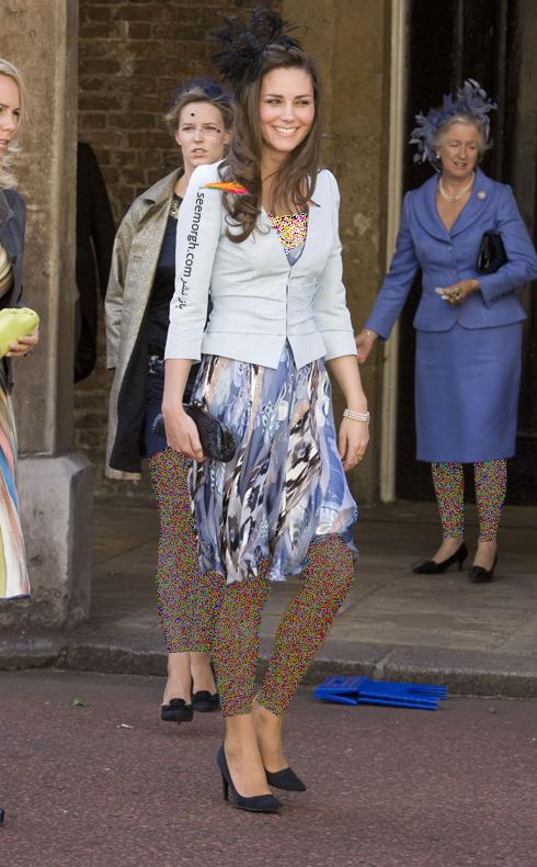 مدل لباس,مدل لباس کيت ميدلتون,مدل لباس کيت ميدلتون در مراسم عروسي George Gilman در سال 2008