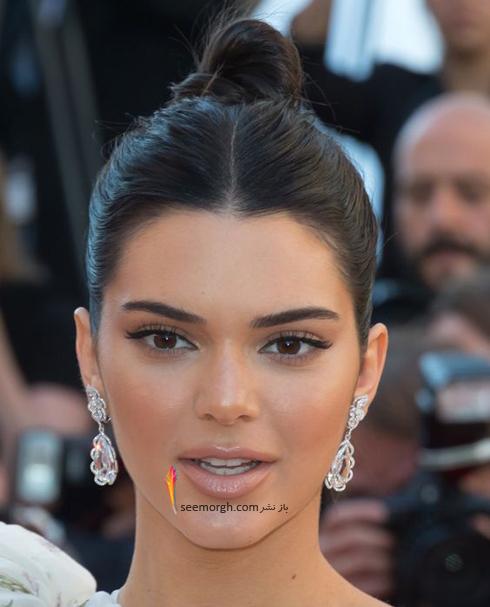 گوشواره,مدل گوشواره,مدل گوشواره گل به سبک کندال جنر Kemdall Jenner