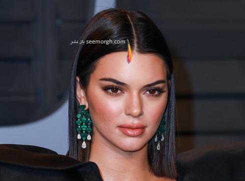 گوشواره,مدل گوشواره,مدل گوشواره آبشاری به سبک کندال جنر Kemdall Jenner