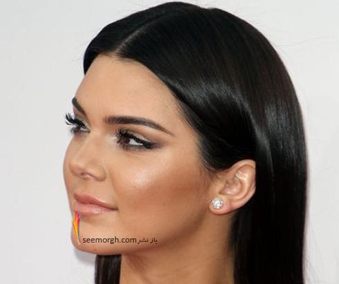 گوشواره,مدل گوشواره,مدل گوشواره تک نگین به سبک کندال جنر Kemdall Jenner