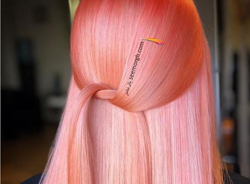رنگ مو,رنگ مو سال,رنگ مو مرجانی,رنگ مو مرجانی روشن برای سال نو میلادی
