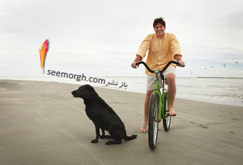 دوچرخه سواری در ساحل