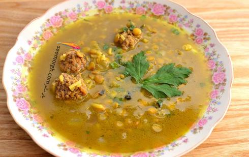 سوپ انار,سوپ شب یلدا,شام شب یلدا,طرز تهیه سوپ انار برای شام شب یلدا