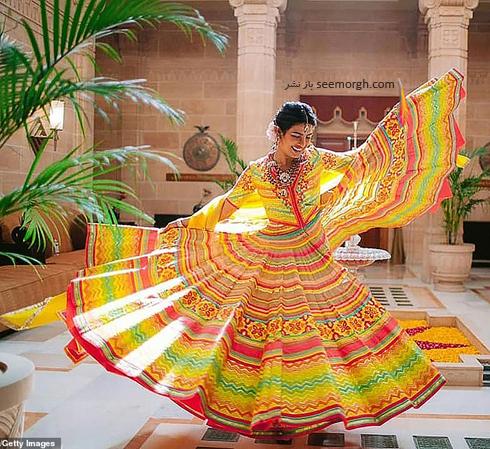 مراسم عروسی,مراسم عروسی پریانکا چوپرا,ازدواج,ازدواج پریانکا چوپرا,نیک جوناس,پریانکا چوپرا و نیک جوناس,لباس سنتی پریانکا چوپرا Priyanka Chopra