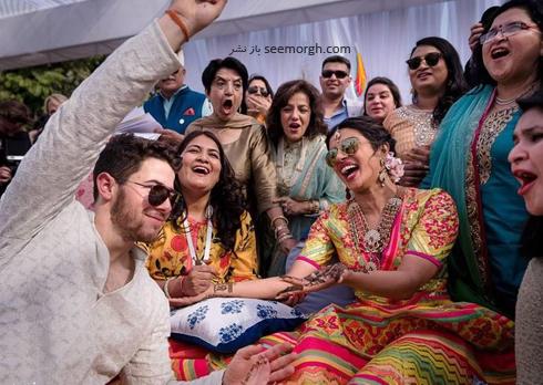 مراسم عروسی,مراسم عروسی پریانکا چوپرا,ازدواج,ازدواج پریانکا چوپرا,نیک جوناس,پریانکا چوپرا و نیک جوناس,لباس سنتی پریانکا چوپرا Priyanka Chopra و نیک جوناس Nick Jonas