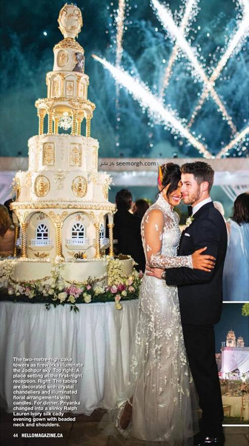 مراسم عروسی,مراسم عروسی پریانکا چوپرا,ازدواج,ازدواج پریانکا چوپرا,نیک جوناس,پریانکا چوپرا و نیک جوناس,کیک مراسم ازدواج پریانکا چوپرا Priyanka Chopra و نیک جوناس Nick Jonas