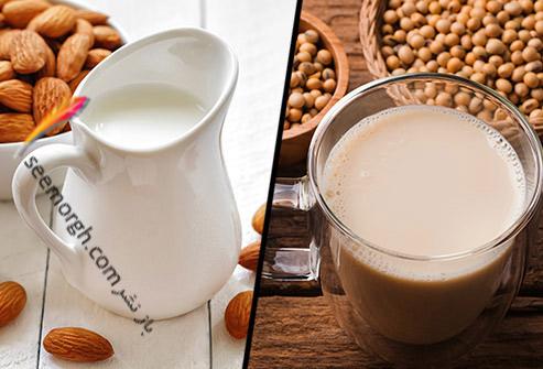 شیر بادام,شیر سویا