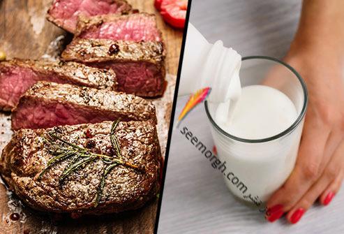 شیر,گوشت