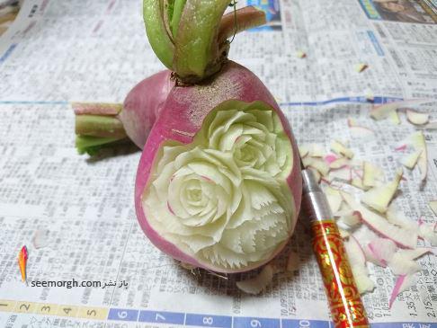 کنده کاری,کنده کاری روی میوه ها,میوه وسبزیجات,Takehiro Kishimoto