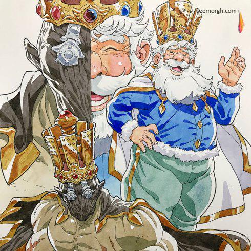هنرمند,پدر هنرمند,توماس رومین,هنر انیمه,انیمه ژاپنی,نقاشی پدر و پسر,نقاشی کودک,Thomas Romain