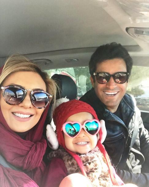 سلفی یکتا ناصر با همسر و دخترش