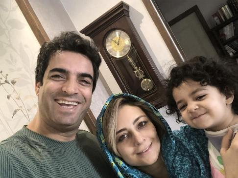 یکتا ناصر و همسرش قبل از برگزاری جشن تولد