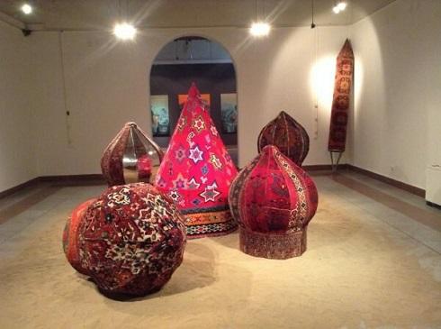 گنبد ایدری,موزه فرش تهران,فرش های گنبدی,فرش دستباف مدرن,هنر محیطی با فرش