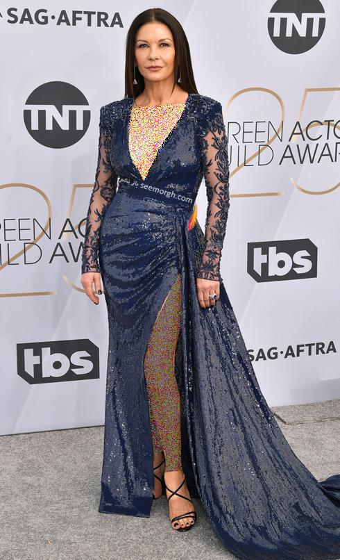 مدل لباس,بهترين مدل لباس,بهترين مدل لباس در SAG Awards 2019 - کاترين زتا جونز Catherine Zeta Jones