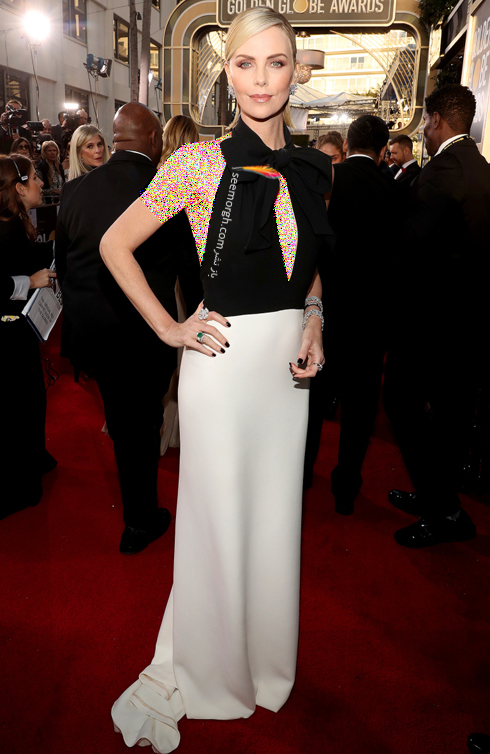 مدل لباس,مدل لباس در گلدن گلوب 2019,بهترين مدل لباس,بهترين مدل لباس در گلدن گلوب 2019,مدل لباس هاي برتر در گلدن گلوب 2019 Golden Globes - شارليز ترون Charlize Theron