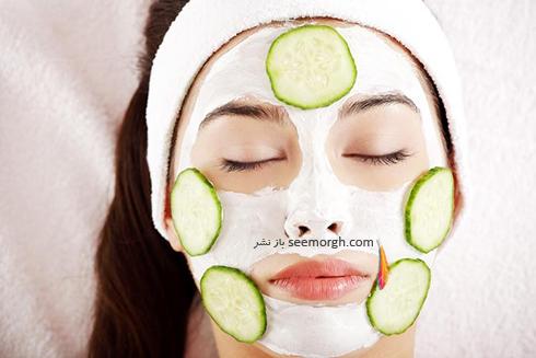 ماسک,ماسک صورت,ماسک خانگی,ماسک صورت خانگی,ماسک صورت خیار و لیمو یک لایه بردار طبیعی