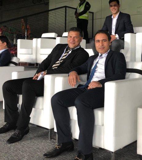 علی دایی و مهدوی کیا در مراسم افتتاحیه جام ملت های آسیا 2019
