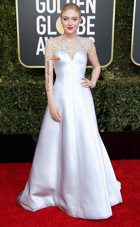 مدل لباس,مدل لباس در گلدن گلوب 2019,بهترین مدل لباس,بهترین مدل لباس در گلدن گلوب 2019,مدل لباس های برتر در گلدن گلوب 2019 Golden Globes - داکوتا فانینگ Dakota Faning