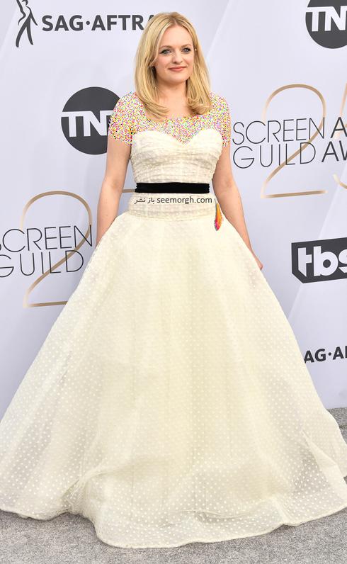 مدل لباس,بهترين مدل لباس,بهترين مدل لباس در SAG Awards 2019 - اليزابت ماوس Elisabeth Moss