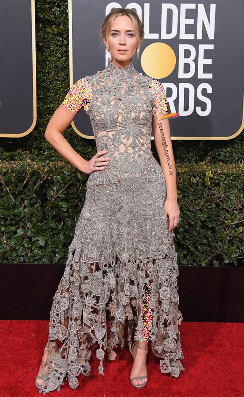 مدل لباس,مدل لباس در گلدن گلوب 2019,بهترین مدل لباس,بهترین مدل لباس در گلدن گلوب 2019,مدل لباس های برتر در گلدن گلوب 2019 Golden Globes - امیلی بلانت Emily Blunt