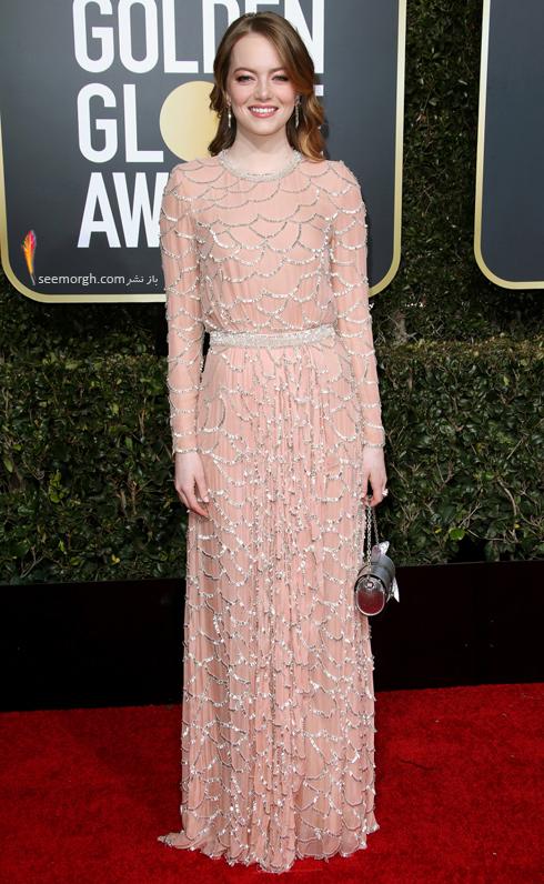 مدل لباس,مدل لباس در گلدن گلوب 2019,بهترين مدل لباس,بهترين مدل لباس در گلدن گلوب 2019,مدل لباس هاي برتر در گلدن گلوب 2019 Golden Globes - اما استون Emma Stone
