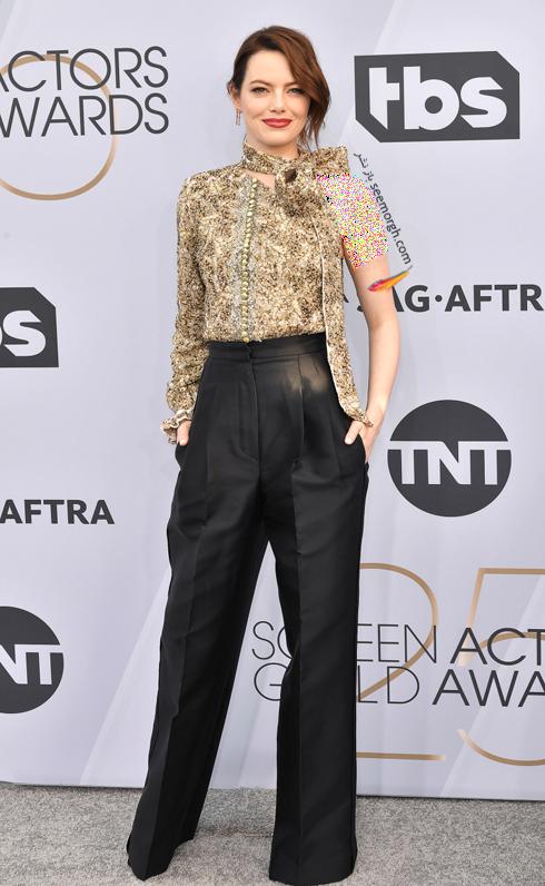 مدل لباس,بهترين مدل لباس,بهترين مدل لباس در SAG Awards 2019 - اما استون Emma Stone