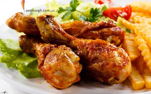 مرغ سرخ کرده,مرغ سرخ شده,غذاهای سریع,طرز تهیه غذاهای سریعمرغ سرخ کرده با گوجه فرنگی