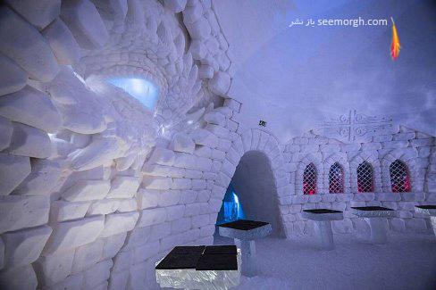 هتل یخی,روستای یخی,برف,فنلاند,بازی تاج و تخت,Game of Thrones