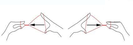 بند انداختن صورت,آموزش بند انداختن صورت,مرحله سوم آموزش بند انداختن صورت