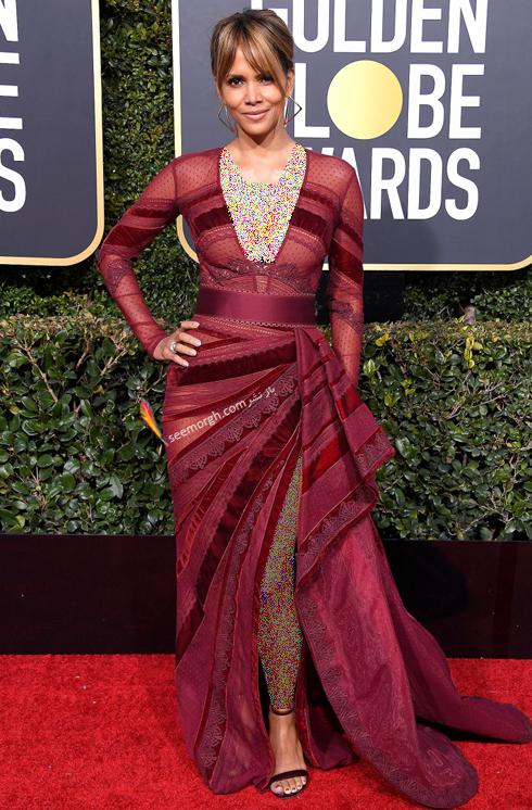مدل لباس,مدل لباس در گلدن گلوب 2019,بهترین مدل لباس,بهترین مدل لباس در گلدن گلوب 2019,مدل لباس های برتر در گلدن گلوب 2019 Golden Globes - هلی بری Halle Berry