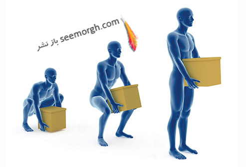 طریقه صحیح بلند کردن جسم