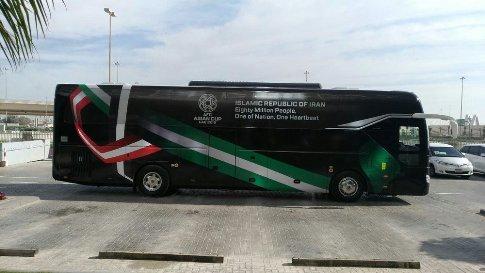 اتوبوس تیم ملی در جام ملت های آسیا