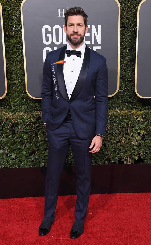 کت و شلوار,مدل کت و شلوار,يهترين مدل کت و شلوار,مدل کت و شلوار در گلدن گلوب,بهترين مدل کت و شلوار در گلدن گلوب 2019 - جان کراسينکي John Krasinski